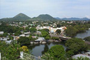 Vista de Catemaco desde la Villa del Carmen